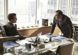 "SUITS -- ""Moot Point"" Episode 313 -- Pictured: (l-r) -- (Photo by: Ian Watson/USA Network)"